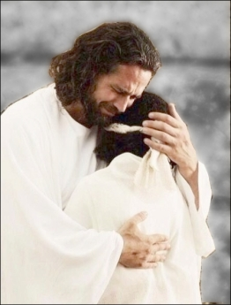 Christ comforting