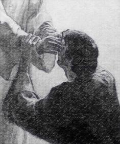 healing the blind man's eyes