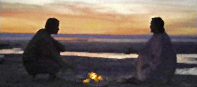 Christ on the beach