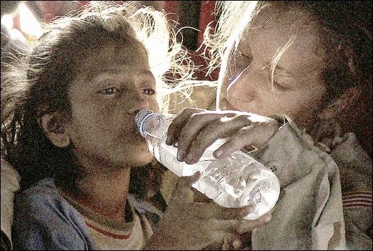 girl cool water