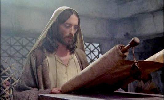 cHRIST READING FROM SCROLL