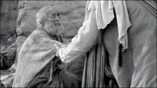 christ helping man